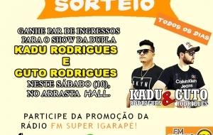 Par de ingressos para o show da dupla, Kadu Rodrigues e Guto Rodrigues 16e9b60fe7