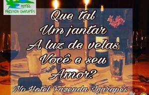 Essa semana a sua FM SUPER IGARAPÉ libera para você e seu amor, um jantar  romântico, a luz de velas, no Hotel Fazenda Igarapés. 98a2e3c6e4